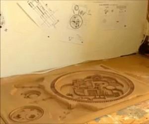 Własnoręcznie robiona makieta zamku z Gry o Tron