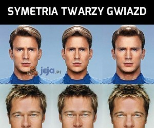 Symetria twarzy gwiazd