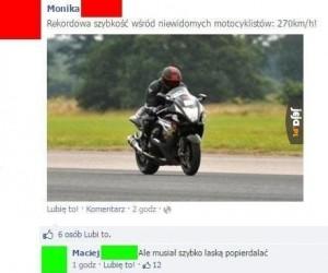 Niewidomy motocyklista?