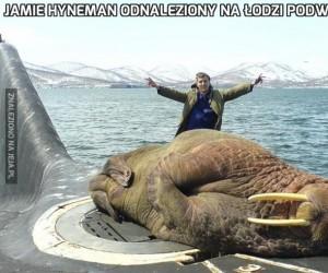 Jamie Hyneman odnaleziony na łodzi podwodnej