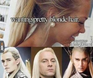 Perfekcyjne blond włosy