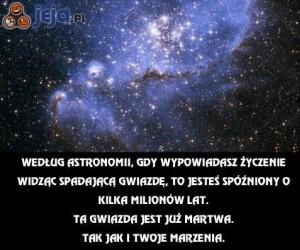Gdy wypowiadasz życzenie widząc spadającą gwiazdę
