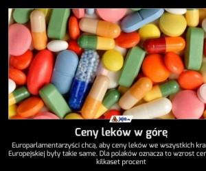 Ceny leków w górę