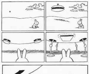 Samobójstwa zajączka: Zajączek i UFO