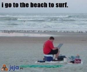 Surfowanie na plaży