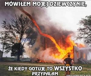Przypalam też domy