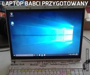 Laptop babci przygotowany