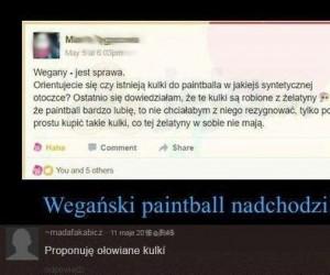 Wegański paintball