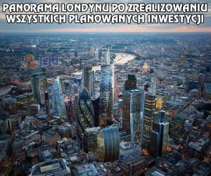 Nowoczesna panorama Londynu
