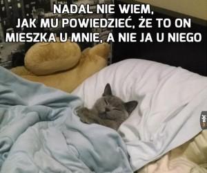 To moje łóżko...