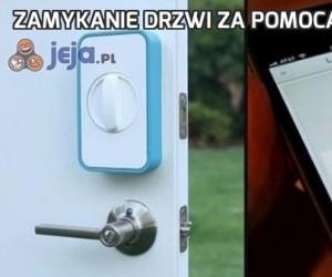 Zamykanie drzwi za pomocą smartfona