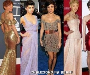 One Direction na czerwonym dywanie