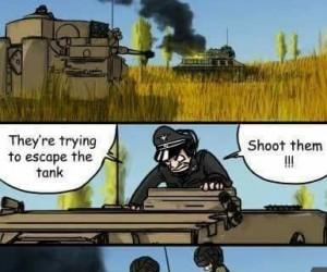 Uciekają, zestrzelić ich! Albo nie!