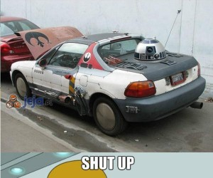 Samochód dla fana Gwiezdnych Wojen