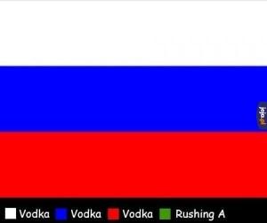 Objaśnienie kolorów rosyjskiej flagi