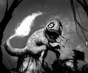 "Charmander w wersji ""horror"""
