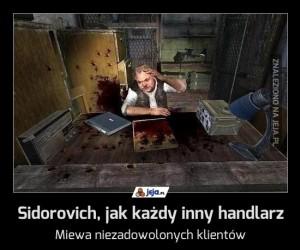 Sidorovich, jak każdy inny handlarz
