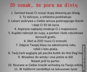 20 oznak, że pora na dietę