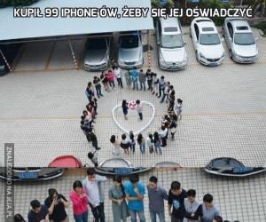 Kupił 99 iPhone'ów, żeby się jej oświadczyć