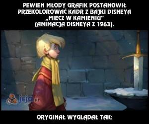 Przeróbki kadrów z animacji Disneya