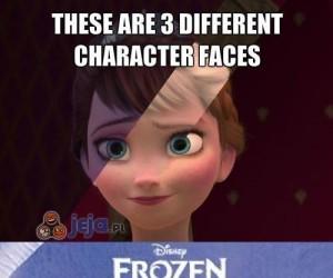 3 identyczne twarze