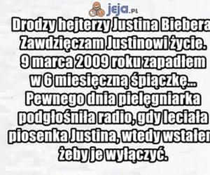 Drodzy hejterzy Justina Biebera