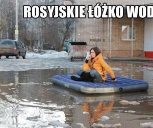 Rosyjskie łóżko wodne