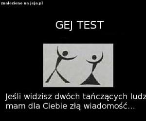 Gej test
