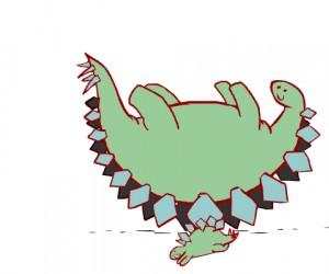 Zabawa dinozaurów