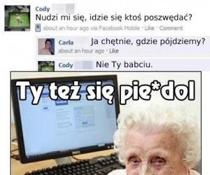 Wnuczek nie ma czasu dla swojej babci