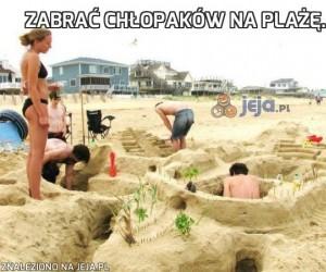 Zabrać chłopaków na plażę...