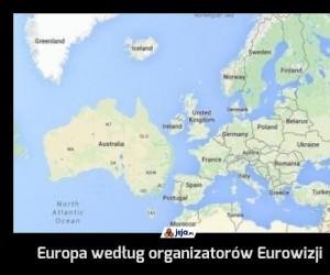 Europa według organizatorów Eurowizji