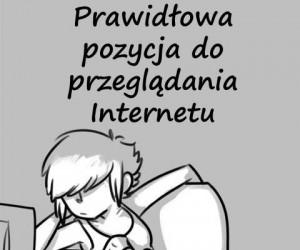 Prawidłowa pozycja do przeglądania Internetu
