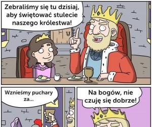 Król świętuje