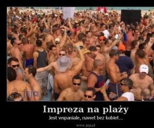 Impreza na plaży