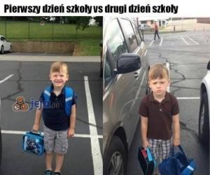 Pierwszy dzień kontra drugi dzień szkoły