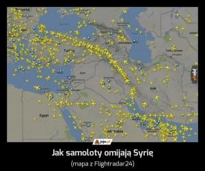 Jak samoloty omijają Syrię