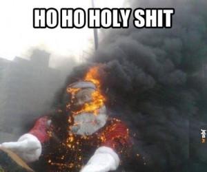 Świąt nie będzie, Mikołaj spłonął