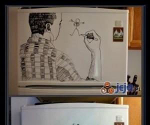 Malunki na lodówce