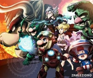 Postacie z Mario w roli Avengers