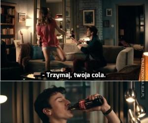 Niemiecka reklama Coca-Coli