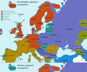 Dni tygodnia w różnych językach europejskich