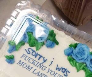 Piękny tort dla kumpla z biura