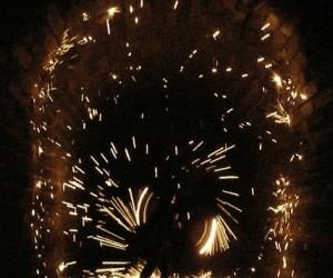 Podpalona wełna stalowa