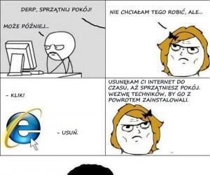 Mama i usuwanie internetu