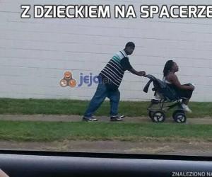 Z dzieckiem na spacerze