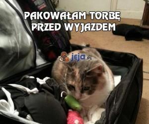Pakowałam torbę przed wyjazdem