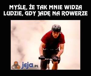 Gdy ostro jadę na rowerze