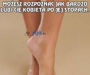 Kobiece stopy powiedzą Ci prawdę