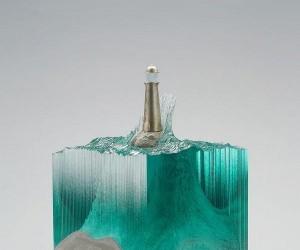 Rzeźby imitujące wodę